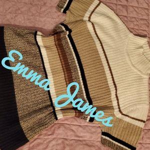 EMMA JAMES Vintage vibes fitted knit top turtl